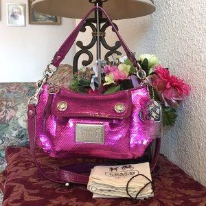 Rare coach poppy sequins handbag